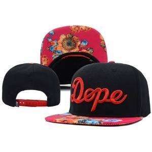 DG GOLD Floral Brims Snapback Caps Men & Women's Classic Adjustable Hats Hip-Hop Baseball Caps (Red)