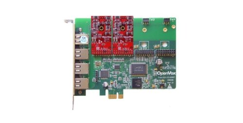 OpenVox A400E02 4 Port Analog PCIe Base Card with 2 FXO