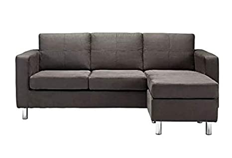 Astounding Amazon Com Nash Configurable Sectional Sofa Faux Leather In Machost Co Dining Chair Design Ideas Machostcouk