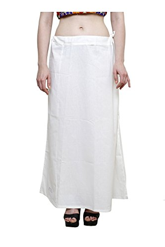 Aurielle Rogisse Mujer India Sari Algodón Enagua Bollywood Solid Inskirt Costuras Forro Enaguas Off White