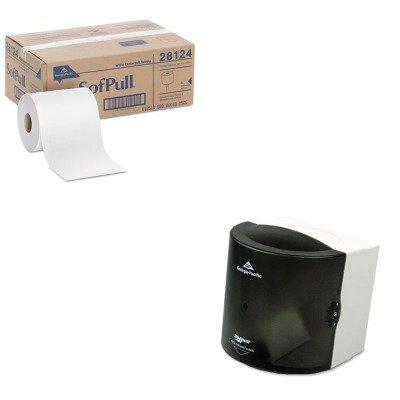 High Capacity Sofpull Center Pull - KITGEP28124GEP58201 - Value Kit - Georgia-Pacific SofPull 582-01 High Capacity Centerpull Paper Towel Dispenser (GEP58201) and Georgia Pacific Center-Pull Perforated Paper Towels (GEP28124)