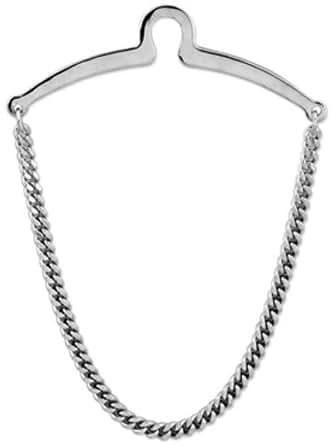 Herringbone tie Chain Silver tone