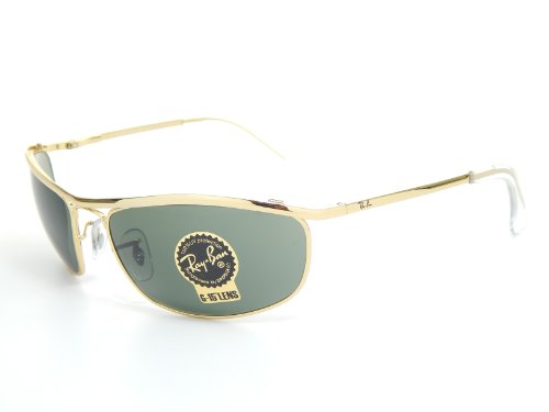 New Ray Ban Olympian RB3119 001 Arista/Crystal Green 59mm - Rb3119 Sunglasses