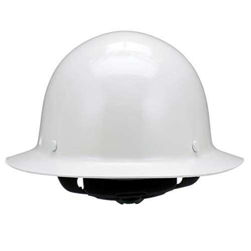 MSA 475408 Skullgard Protective Hard Hat Full Brim, Fas-Trac III Suspension, Standard Size, White by MSA (Image #3)