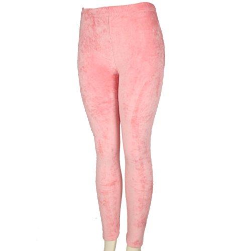 Women's Shinny Velvet Leggings - Comfortable Ultra Soft Fashion Pants - Elastic Waist Band - Multi-Purpose Comfy Fit Wear - Stretch Skinny Leggings for Winter & Cold Seasons, Light Pink ()