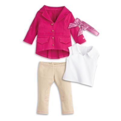 American Girl - Pretty Pink Riding Outfit for Dolls - Truly Me 2015, Brown