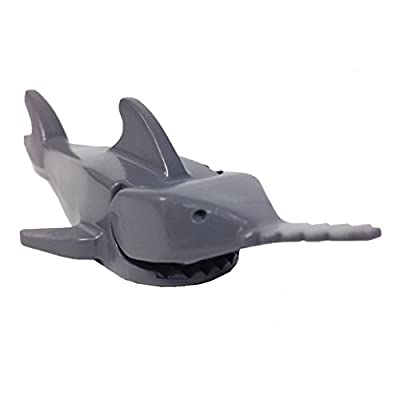 Lego Parts: Deep Reef - Sawfish Shark (Dark Bluish Gray)