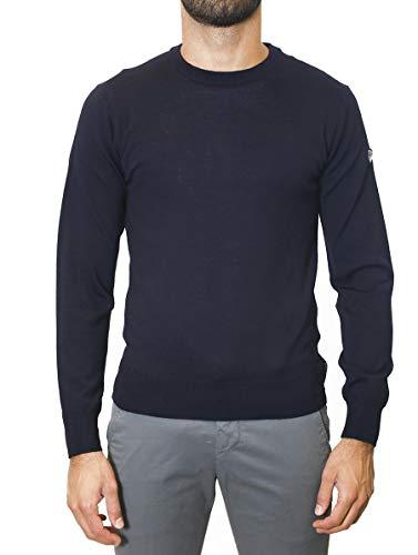 Emporio Armani Wool Sweater Long Ea7 Blue sleeved qpf7TSxq