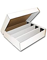 Bcw Monster 4 Row Storage Box (3200 Ct.) - Corrugated Cardboard Baseball, Football, Basketball, Hockey, Nascar, Sportscards, Gaming & Trading Cards Collecting Supplies