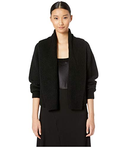 (Vince Women's Oversized Shawl Collar Cardigan Black Small)