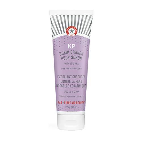First Aid Beauty KP Bump Eraser Body Scrub Exfoliant for Keratosis Pilaris with 10% AHA