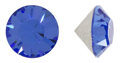 Swarovski Elements Crystal Sapphire Chatons (Pp24, Approx. 3mm, Xillion Round Cut)