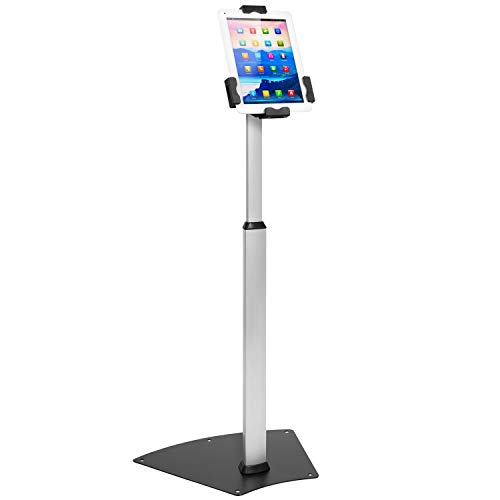 Mount-It! Anti-Theft Universal Tablet Floor Stand Kiosk - Height Adjustable Tablet Kiosk Floor Stand - Locking Tablet Mount Stand for iPad, Galaxy, Surface Go & Other 7.9 Inch - 10.5 Inch Tablets
