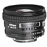 Nikon AF-Nikkor 20mm F2.8 D - Objetivo con montura para Nikon (distancia focal fija 20mm, apertura f/2.8)