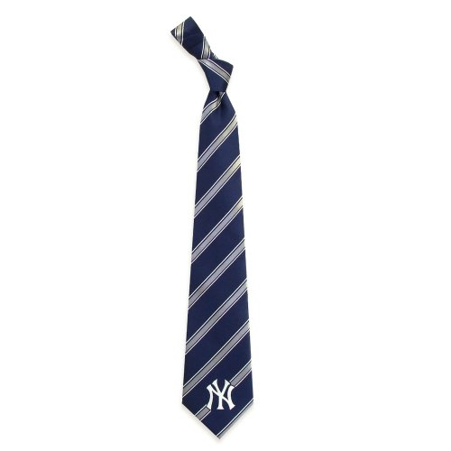 New York Yankees Woven Polyester Necktie (New York Yankees Ties)
