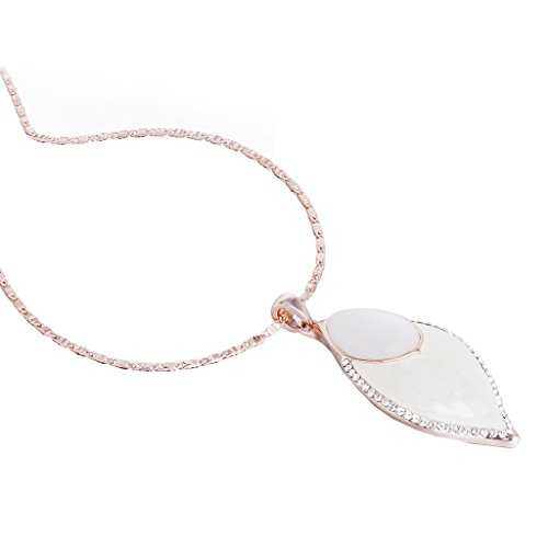 Snake Eyes Costumes Replica (Janeo Cats Eye Stone & Real Mother of Pearl Pear Drop Pendant Necklace, 14K Rose Gold or Silver Rhodium. Swarovski Crystal Contour. Contemporary Fine Neck Jewellery. Prefect Gift, Sale Bargain Price)