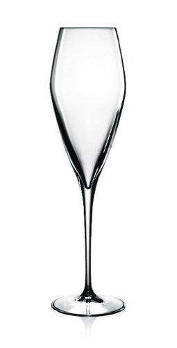 Luigi Bormioli Prestige Champagne/Flute Glasses, 10 oz, Set of 4 ()
