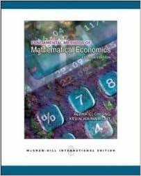 Mathematical Economics Pdf