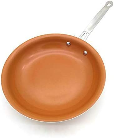 Frying Pan Non-Stick Copper Frying Pans & Skillets with Ceramic Coating Induction C Ooking Oven Cooking Pot Nonstick Pan Cookware 8 in Non stick