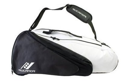 Rucanor Aristidus Badmington Racket Bag Case Holds Up To 4 Rackets – Black/White