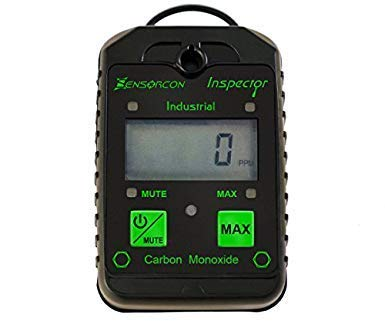 Sensorcon Industrial CO Carbon Monoxide Monitor with Visual, Audible and Vibrating Alerts, Waterproof, Made in USA