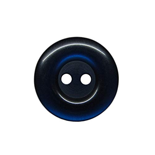 ButtonMode Uniform and Workwear Buttons with 2 Holes Includes 22 Buttons Measuring 19mm (3/4 Inch) Ideal for Manufacturing, Factory, Food Service, Facility and Automotive Uniforms, Navy, 22-Buttons