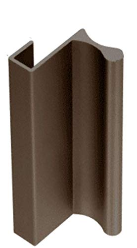 CRL Duranodic Bronze Finish Aluminum Extrusion for Showcase Finger Pull with 7/16