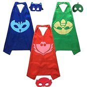 [PJ Masks Costumes For Kids Catboy Owlette Gekko Mask Cape Bracelet] (Costumes On Demand)