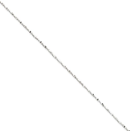 Twisted Serpentine Chain (.925 Sterling Silver 1.20MM Twisted Serpentine Link Chain Necklace ,)