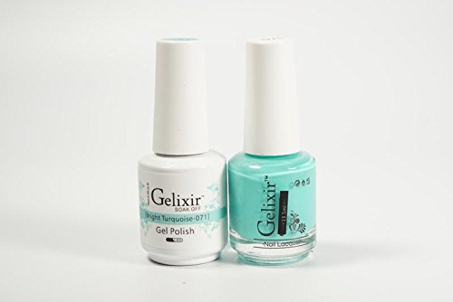 Gelixir Duo matching gel and nail polish, Made in USA.