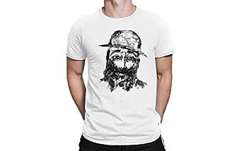 Loopzz White Round Neck T-Shirt For Unisex