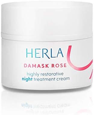 Herla Beauty - Damask Rose Line   Highly Restorative Night Treatment Cream - Renew and Nourish Skin