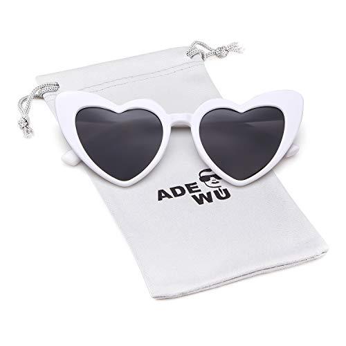 (Heart Sunglasse Vintage Retro Cat Eye Oversized Sunglasses)