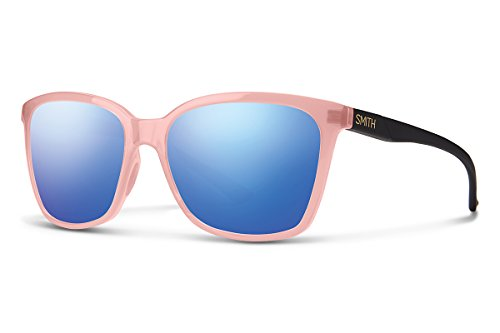 Smiths Blush - Smith colette Carbonic Sunglasses, Blush Matte Black, Blue Flash Mirror