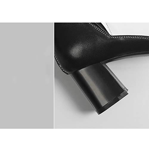 Assortie Europe YXIAOL Pointues Femme Chevalier Court Courtes Dames Hauts Bottes Nouvelles Talons blackvelvet Chaussures Et Noir Bottes Bottes Automne Tube Amérique Couleur wr00UYaRxq