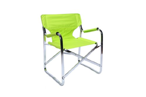 Aluminum Design Extrusion - Sophiste Outdoor Chair. (Lime Green) A superb, lightweight, honeycombed aluminum design, manufactured from a patented extrusion process, producing the world's most finest outdoor chair. Winner of the International Good Design award in 2004, the Sophiste features a broad 21 inch beam, an amazing 280lb load capacity, a peerless Cordura canopy with swivel-stitched, double-walled construction, & a sturdy snap mechanism for easy of folding. It also includes a handle carry-strap on the armrests, to aid hauling the cloud-like 5lb frame. Combining bright, contemporary colors with engineering from an era where things were built to last, the Sophiste Chair is a 21st Century classic.