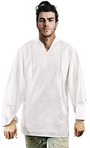 Exact Pirate Shirt Jack Sparrow Costume (L)]()