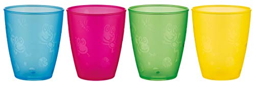 Nuby 4-Pack Fun Drinking Tumblers, 9 Ounce, Colors May Vary