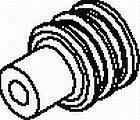 Automotive Connectors LOOSE CABLE SEAL DARK RED (100 pieces)
