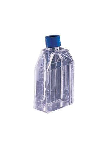 BD 353810 Falcon Primaria Polystyrene Sterile Cell Culture Flask with Vented Screw Cap, Straight Neck, 75 Sq cm Culture Area, 250mL Capacity (Case of 100)