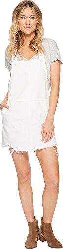 [BLANKNYC] Blank Denim Women's Overall Mini Dress, Lightbox White, - Box Womens Mini