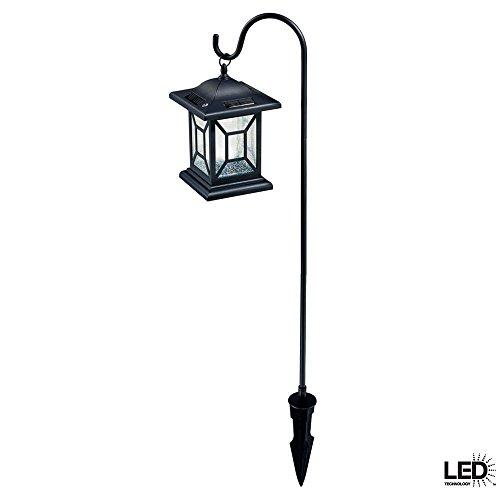 Outdoor Solar Led Black Diamond Lantern