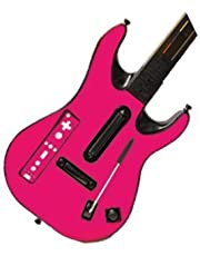 Party Pink Vinyl Decal Faceplate Mod Skin Kit for Nintendo Wii Guitar Hero 5 (GH5) World Tour by System Skins
