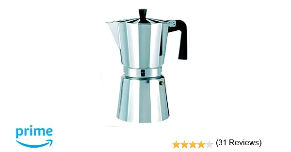Oroley - Cafetera Italiana New Vitro de Aluminio, 12 Tazas: Amazon ...