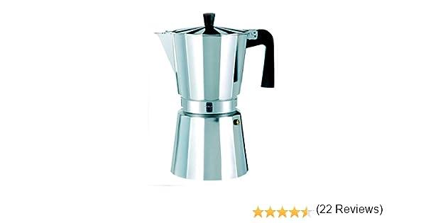 Oroley - Cafetera Italiana New Vitro | Aluminio | Incluye 9 Tazas | Cafetera Vitrocerámica, Fuego y Gas | Estilo Tradicional: Amazon.es: Hogar