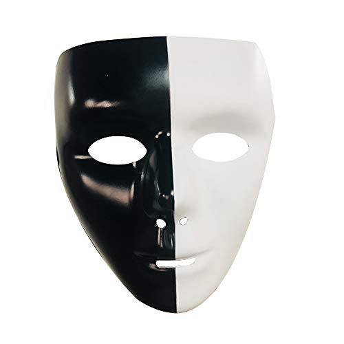 (Abrante Hand - Painted Horror Face, Black and White Ghost Mask for Halloween, Cosplay and Carnival Party (A)