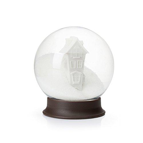 PELEG DESIGN Sugar House - Snow Globe Plastic Clear Sugar Bowl, Kitchen Decoration