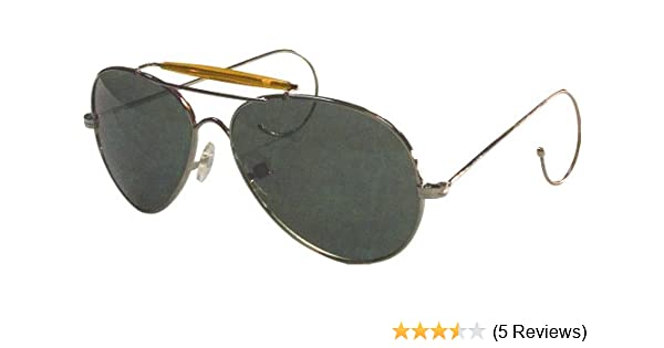 Amazon.com  10200 AIR FORCE STYLE SUNGLASSES -GOLD FRAME - GREEN LENSES   Shoes 0279f74dda1