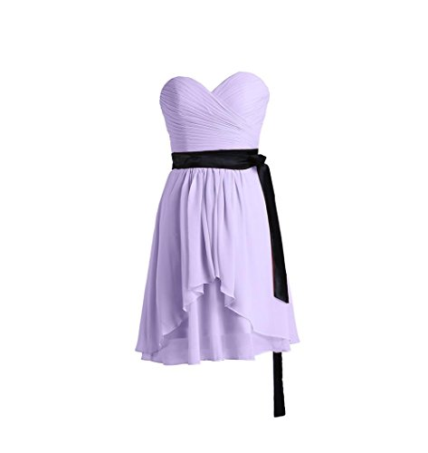 YiYaDawn - Vestido - trapecio - para mujer Lavanda