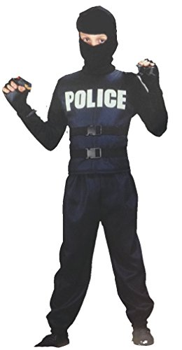 [Swat Police Child Costume in 2 Sizes (Medium (ages 8-10))] (Swat Vest Costume)